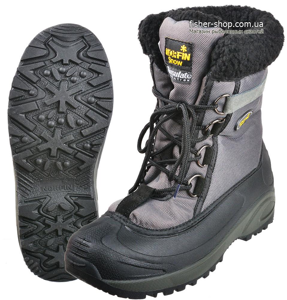 Купить ботинки зимние Norfin Snow Gray (-20°) 13980  b0b0b0962f916